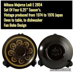 "Mikasa Majorca Lodi 6 1/4"" saucers"